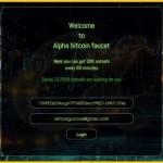 Альфа биткоин-кран – один из доходных кранов. Alpha Faucet