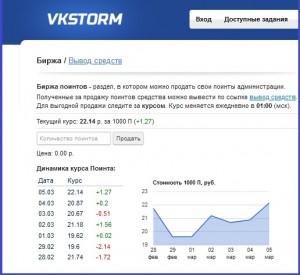 Vkstorm - сервис раскрутки и заработка в социальной сети ВКонтакте